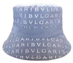 未使用正規ブルガリロゴマニア帽子ハットレディース水色ブルーレディースBVLGARI