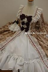 オリジナルドレス 花柄茶色 M〜Lサイズ