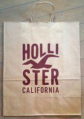 【HOLLISTER★ショップ袋】ホリスター♪USA♪ギフト♪プレゼント