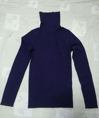 即決タートルネックセーター紫色パープル送料込みMサイズ