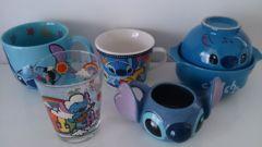 未使用★ディズニー リロ&スティッチ BIGマグカップ グラスコップ 小鍋等 5点セット