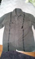 NICOLE新品ニコルテーピングシャツジャケット48ウッシュブラック