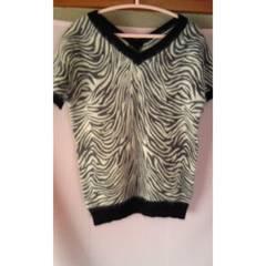 新品 冬用半袖 L アンゴラ60% 羊毛20%