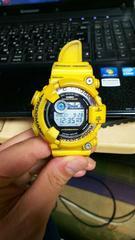 ■G-SHOCKフロッグマンGF-8250イエロー作動品 200m潜水■