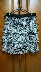 【大きいサイズ】とっても素敵スカート。黒×白。美品