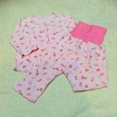 イチゴピンク腹巻パジャマ