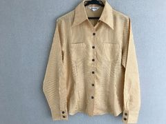 未使用◎黄色系 シャツ/Lサイズ/長袖