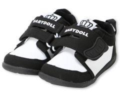 新品BABYDOLL☆17cm マジックテープ スニーカー 靴 ベビードール