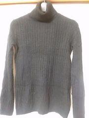 新品 黒縄編みタートルネックセーターМサイズ 定形外250