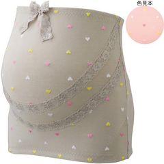 ハート柄刺繍妊婦帯!新品!グレーベージュMサイズ