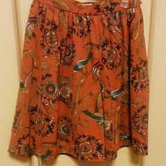 ペイトンプレイス*オレンジ柄キュロットスカート