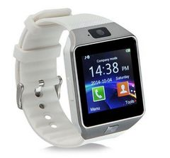 メンズ 革バンドアナログ腕時計★ホワイト