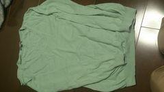 即決☆Mサイズユニクログリーン長袖薄手ニットセーター