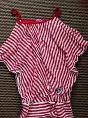 JENNI・ストライプTシャツ・赤150