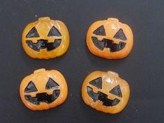 デコ電・手芸パーツ ハロウィンパンプキン かぼちゃ 4個