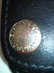 アメリカ バイク ハーレーダビットソン 財布 革 ブラック 金具 ウォレット