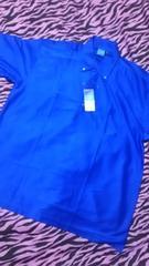 新品 超激カッコイイ青吸水速乾ドライポロシャツ大きいサイズ5L