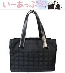 美品 シャネル トートバッグ ニュートラベルラインPM 黒v112