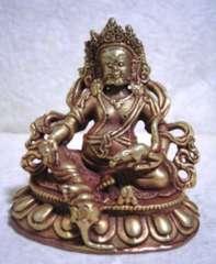 銅製・金鍍金 宝蔵神・シャンバラ 6.9センチ 毘沙門天
