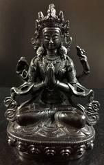 ◆六字咒観音菩薩像◆仏教 チベット-C1