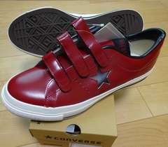 新品・送料無料コンバース ワンスターJ V3 赤黒29cm