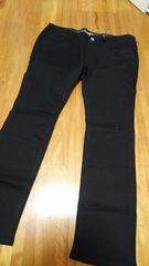 新品大きいサイズ W88 サテンストレッチスキニーパンツ 黒
