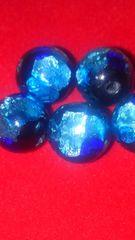 琉球ホタル石(青の洞窟ブルーグラデーション蓄光約10mm珠5個)
