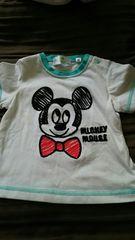 Disney。Mickey★Tシャツ記載size80