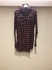 LGBルグランブルー 赤ラメチェックシャツ ネルシャツ 0