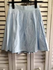 新品 cherite 水色 フレアースカート M