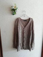 JEANASIS ☆ケーブル編みカーディガン