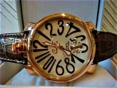 正規club faceブラウンベルト腕時計◆GAGAガガミラノtype◆