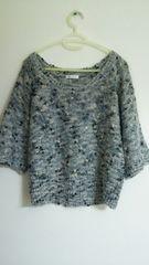 ルイジャンヌ 5分袖ミックスニット/セーター 重ね着に LUI JANNE