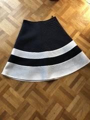 美品エムズグレイシー メッシュボーダースカート36