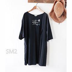 freeサイズ♪ SM2*サマンサモスモス*刺繍がかわいい5分袖コットンワンピース♪