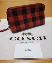 ★新品★コーチ★ポーチ★レッド×ブラック★COACH★正規品★