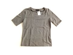 新品 CORSAGE DELIE黒 チェック 半袖 カットソー Tシャツ
