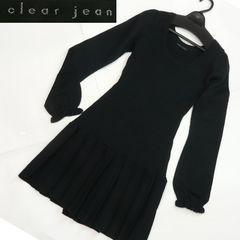 【新品★38サイズ】clear jeanのニットワンピー★黒★送料185円