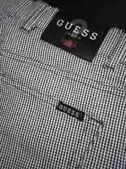 GUESS/ゲスロゴパッチがオシャレなギンガムチェックパンツ