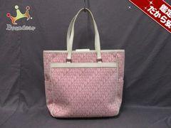 Pinky&Dianne(ピンキー&ダイアン) トートバッグ ピンク×白 ジャガード×合皮