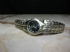 特価 処分 腕時計 レディース シルバー×ブラック