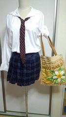 コスプレ★女子高生制服!!チェックスカート★ネクタイ付き