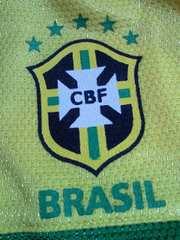 サッカー ブラジル 代表 10 ユニフォーム風 デザイン Tシャツ イエロー 140�p