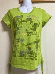 ★DANSKIN 黄緑×ラメ入Tシャツ  M★