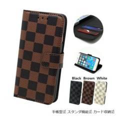 ★送料無料 Galaxy S8 ( SC-02J / SCV36 ) 手帳型 格子ケース