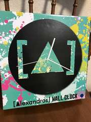 Alexandros*アレキサンドロス壁掛け時計 ウォールクロック ロゴ