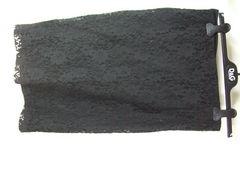 良品ドルチェ&ガッバーナ レーススカート ブラック系