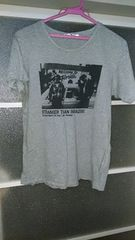 ユニクロ!デザインTシャツ!グレーS