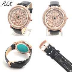 スピナー シチズンMIYOTAMM 革ベルト レディース腕時計 BK