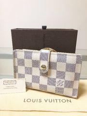 1円 ◆正規品◆ 良品 ◆ ルイヴィトン ダミエ アズール 長財布